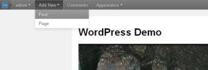 убираем админ меню wordpress