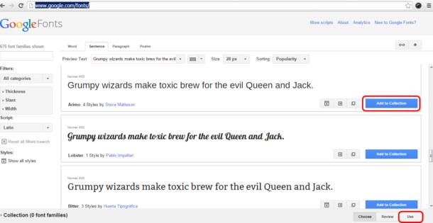 использование на сайте google fonts